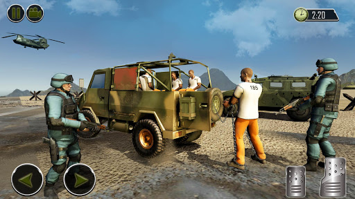 OffRoad US Army Helicopter Prisoner Transport Game  captures d'écran 2