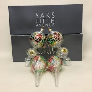 Saks Fifth Avenue Murano Ornament Set