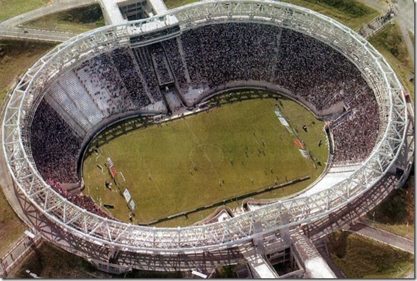 Estadio Unico de la Plata visto desde arriba