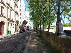 Photo: Quai d'Anjou, once home to Voltaire, Cezanne, and the Three Mountains Press, edited by Ezra Pound, which published Hemingway's works (#29)