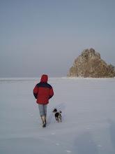 Photo: Jack Sheremetoff and his dog