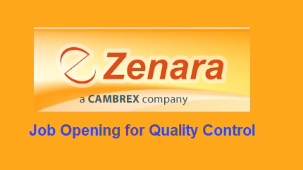 Zenara Pharma private Limited – Urgently Opening for Quality Control |  Apply CV Now