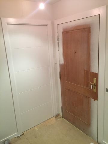 panelado de puerta de entrada