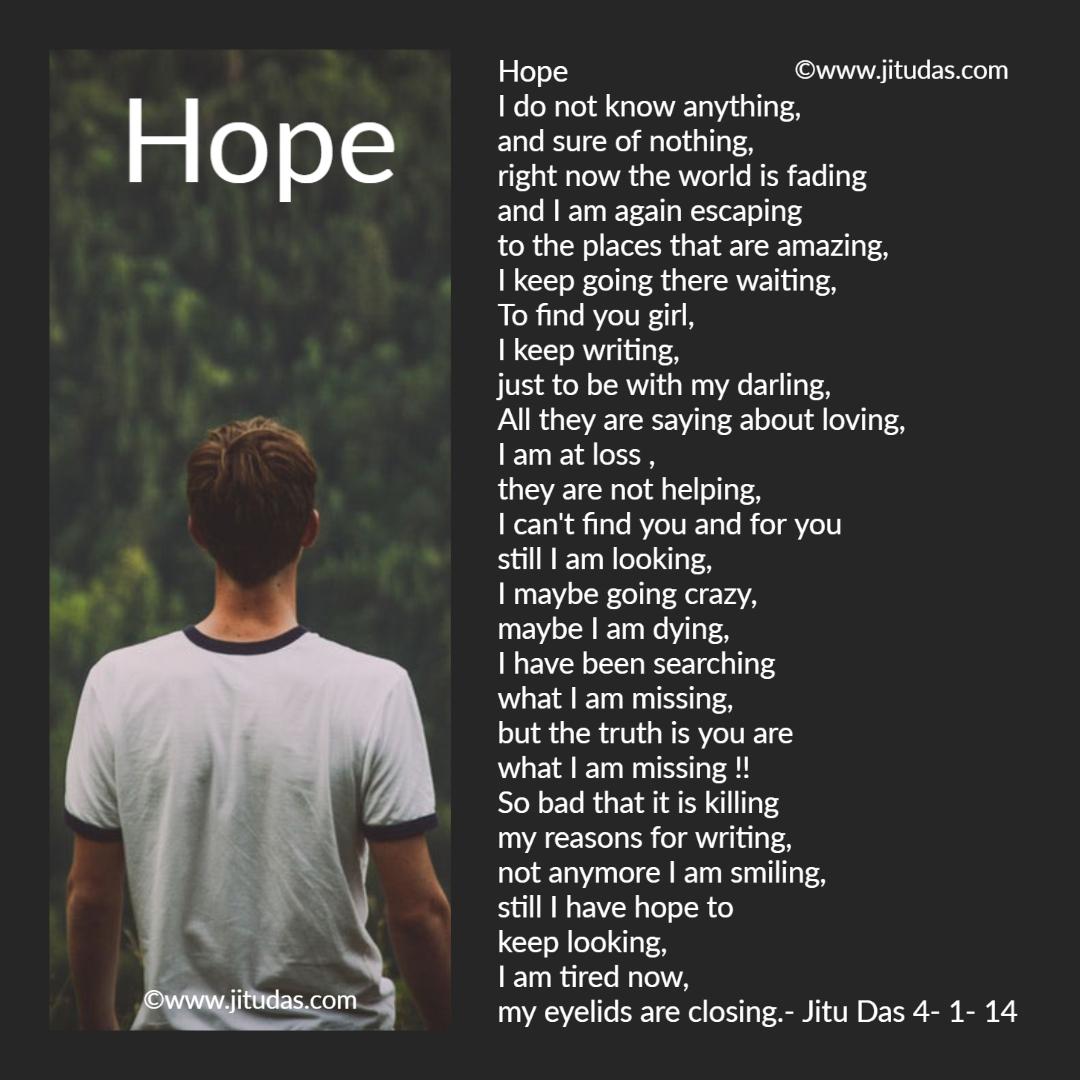 """Hope what poem is """"Hope"""" is"""