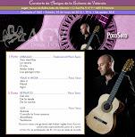 Programa del Concierto de PacoSeco, en Amigos de la Guitarra de Valencia
