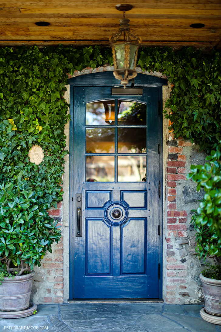 The Blue Door at the French Laundry Restaurant.