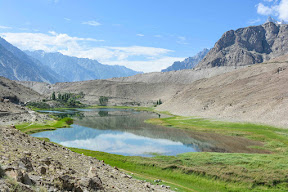 Borait Lake, Hussani, Passu, Gilgit Baltistan
