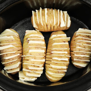 How To Make Hasselback Potatoes In A Slow Cooker (video).
