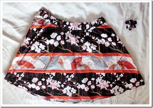 A-line Half Circle Skirt in Asian Style Fabric