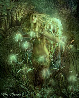 Magic Girl And Flowers, Magic And Spells