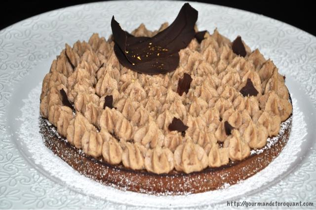 gourmand et croquant brownie au chocolat et marron de christophe michalak. Black Bedroom Furniture Sets. Home Design Ideas