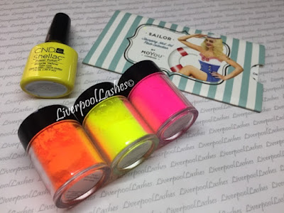 liverpoollashes cnd shellac lecente neon nail shadows