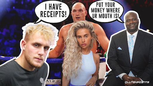 Jake Paul called out by Shaq, Tyson Fury to fight brother Tommy, YouTuber responds with DMs from Fury's girlfriend