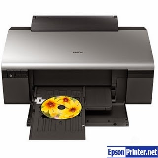 Reset Epson R285 printing device by application