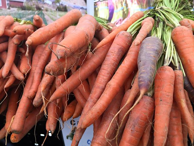 Wonderful carrots from Yakima, Washington. Renton Farmer's Market.