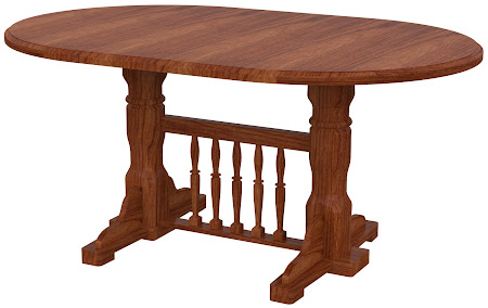 Riverside Round Conference Table in Cascadia Cherry