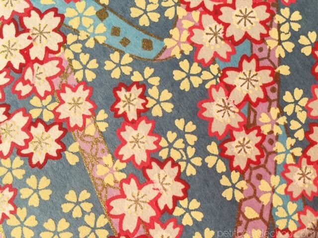 adeline klam chiyogami flowers washi paper gold contouring