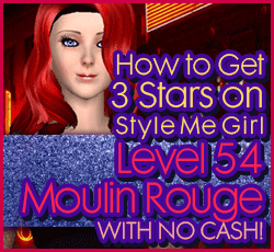 Style Me Girl Level 54 - Moulin Rouge - Lina - Stunning! Three Stars