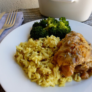 Slow Cooker Chicken Thighs with Beer & Herbes de Provence.