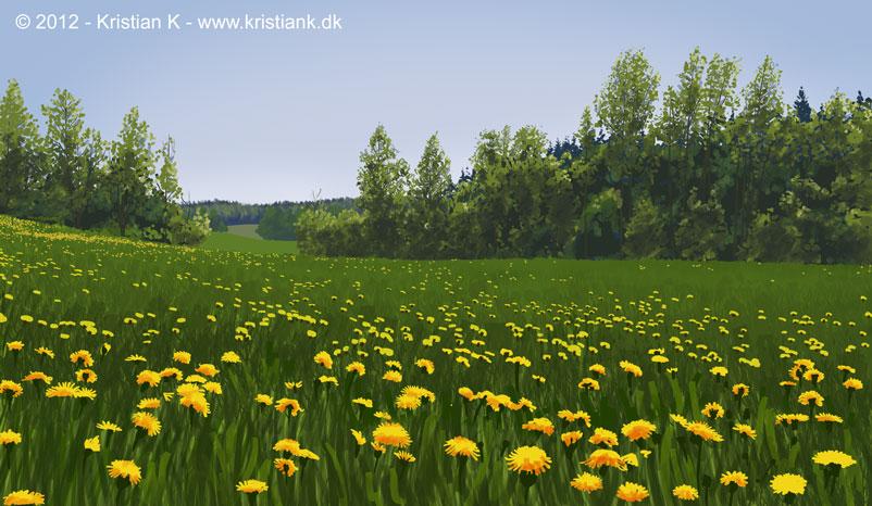 en baggrundstegning fra den norske Barda, produceret for Fabulab og DR tv