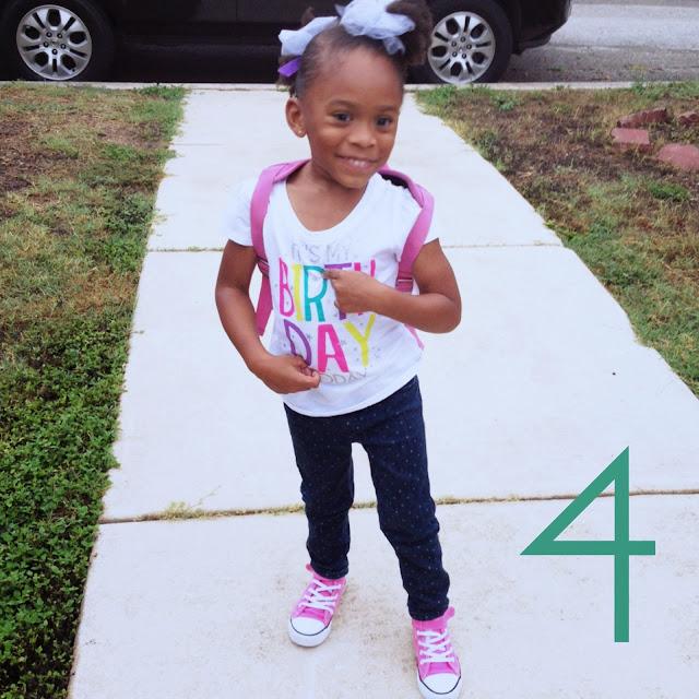 fourth birthday birthday girl
