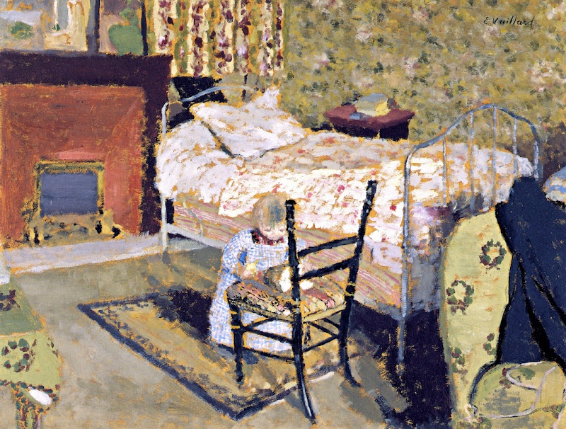 Édouard Vuillard - Child Playing. Annette in front of the Rail-Backed Chair