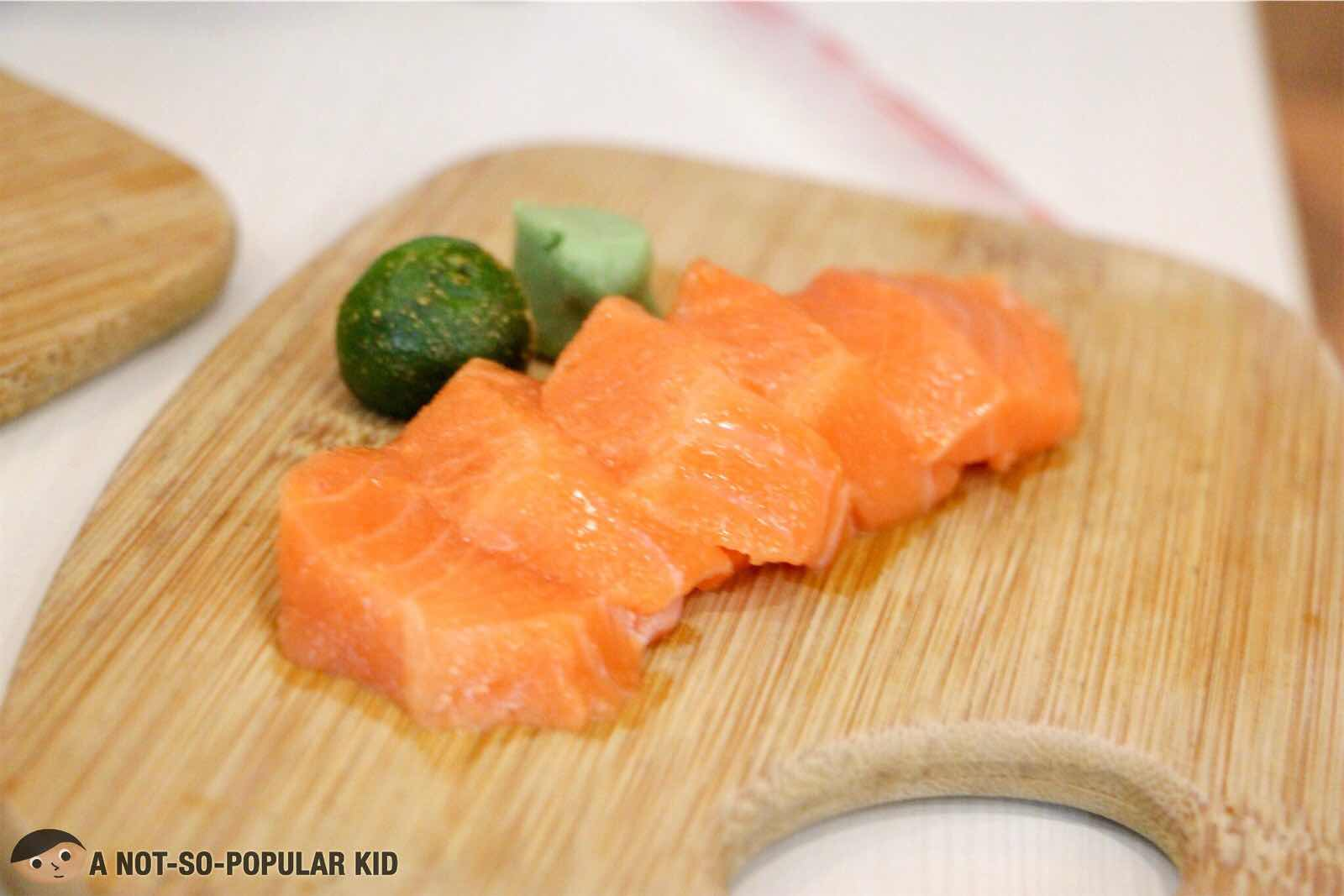 Affordable Salmon Sashimi of Asian Bites