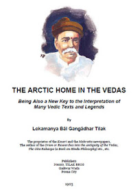 Cover of Lokamanya Bal Gangadhar Tilak's Book The Arctic Home in the Vedas
