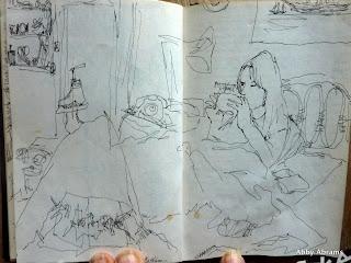 Kathleen:Paris sketch
