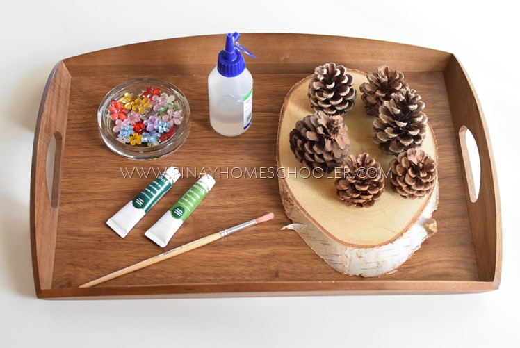 CHRISTMAS TREE PINECONE PAINTING