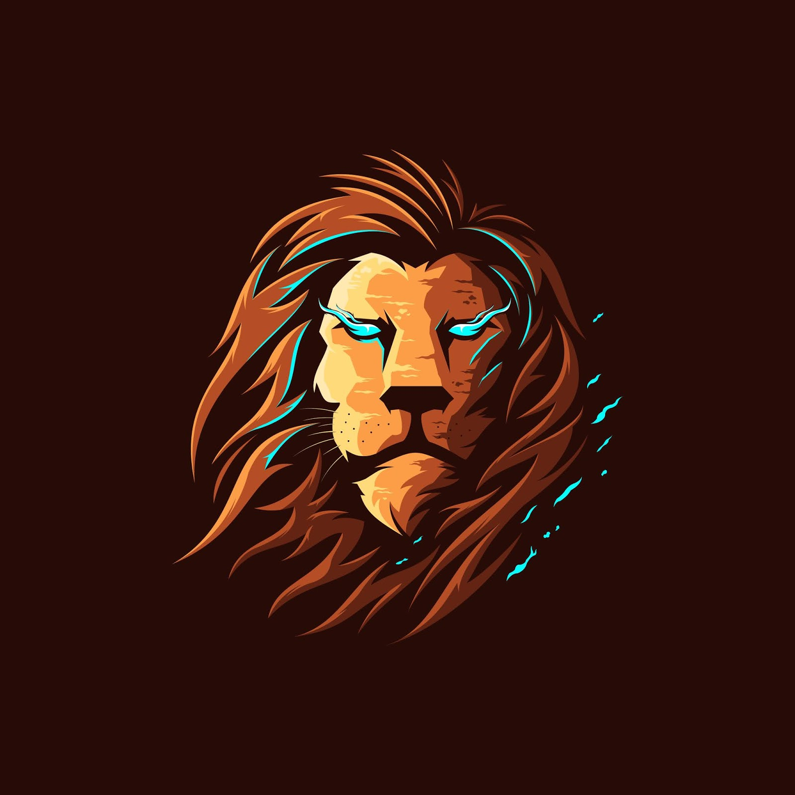 Lion Full Color Illustration Logo Free Download Vector CDR, AI, EPS and PNG Formats