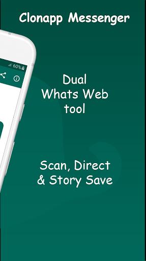 ClonApp - Dual Messenger for WhatsApp&Story Saver