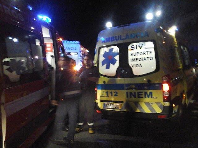 Acidente rodoviário faz cinco feridos dois dos quais graves