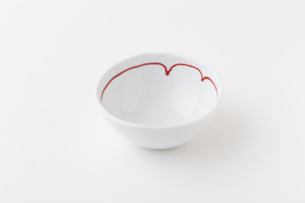 Akai-Ito Line Porcelain Dipping Bowl (set of 5)