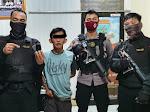 Patroli Walet Sat Sabhara Polres Lampung Utara Amankan Penyalahguna Narkoba