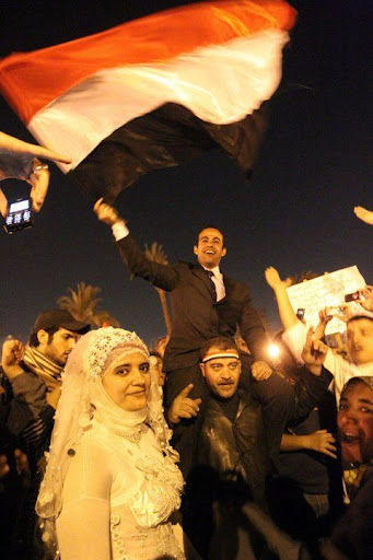 Egyptian Revolution شريف الحكيم Tahrirwedding