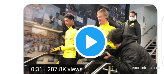 Borussia Dortmund star Haaland steps on the Etihad Stadium for the first time ahead clash against Man City
