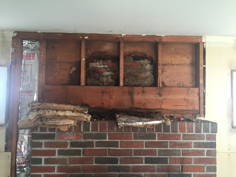 Sheathing Rot about Fireplace