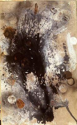 Mon fleuve prèferé, 1998-99 350 x 218 cm, t.m. avec collage sur toile