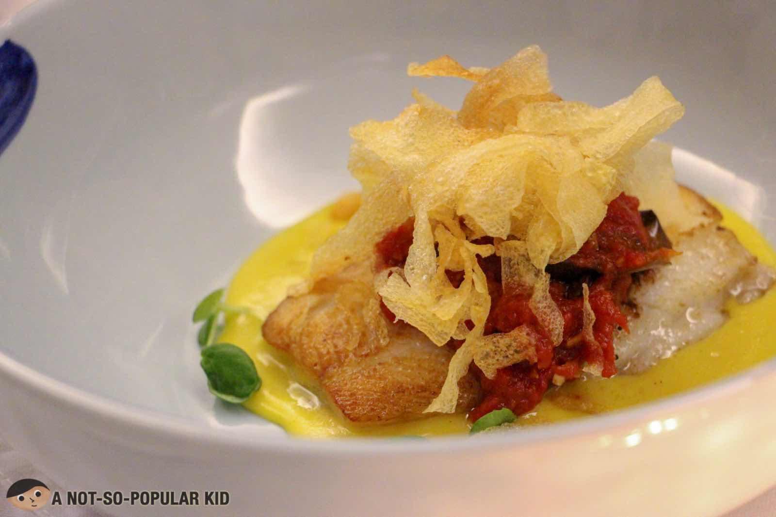 Halibut Dish of FOO'D in Shangri-La Hotel