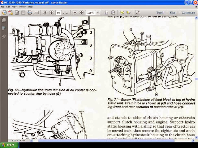 MASSEY    FERGUSON    MF1010    1020    WORKSHOP SERVICE MANUALS for