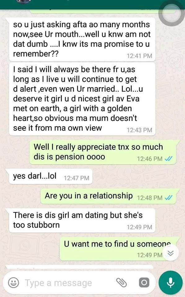 My ex-boyfriend still send me his monthly allowance