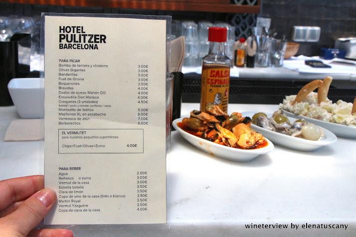 hotel pulitzer barcelona, vermouth, vermut