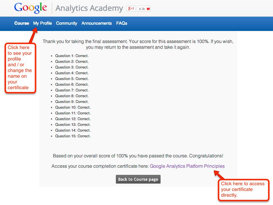 No Certificate Google Groups