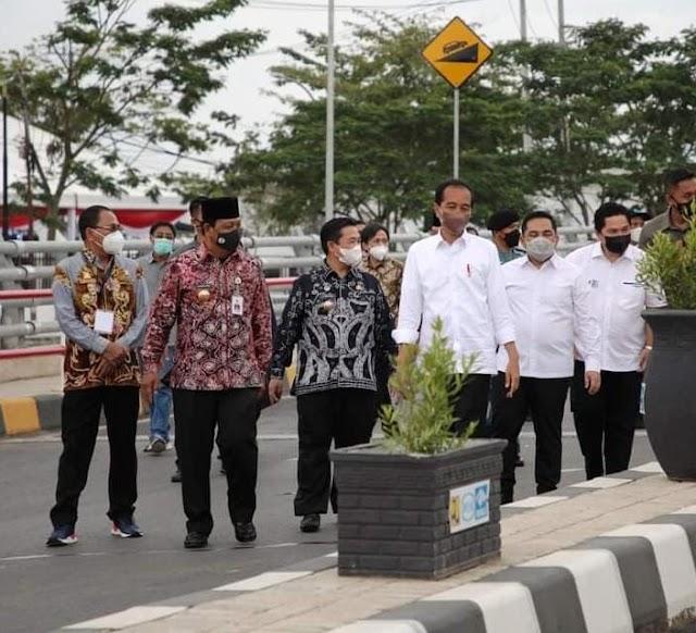 Diresmikan Jokowi, Walikota Ibnu Sina  Ingin Jembatan Alalak Jadi Roda Perekonomian Kalsel