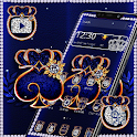Blue Shiny Diamond Launcher Theme 👑 icon