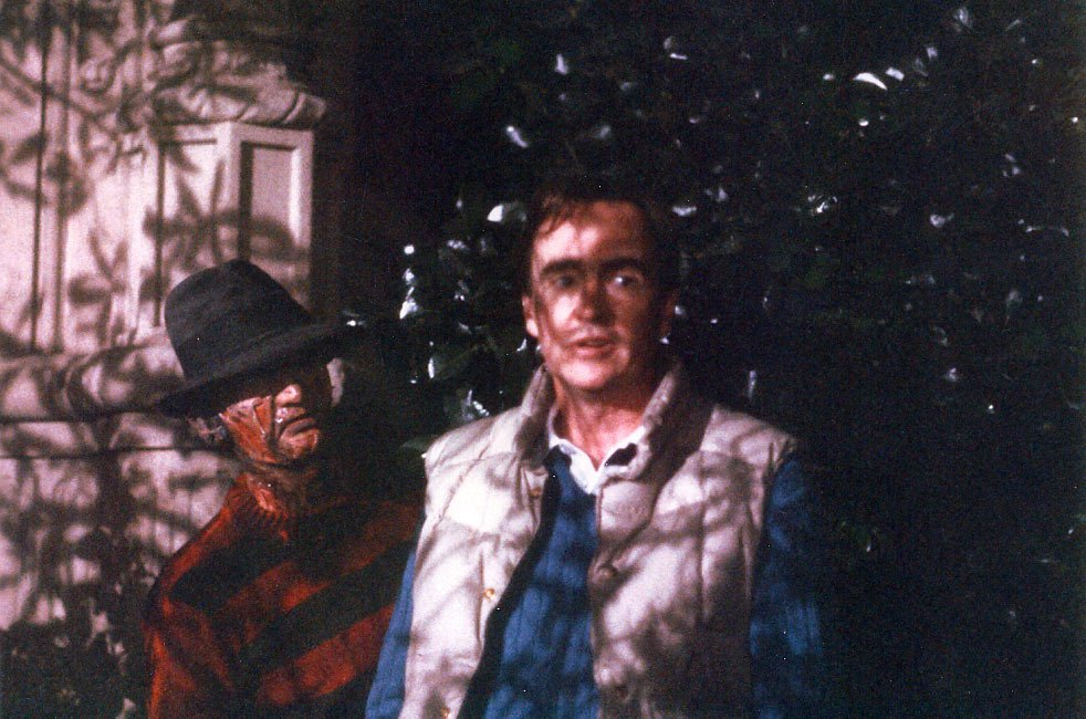 One of the many night shoots with Wes Craven.