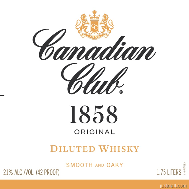Canadian Club 1858 Original Diluted Whiskey