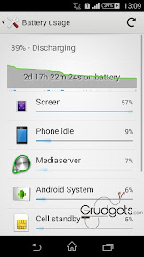Battery usage on e3