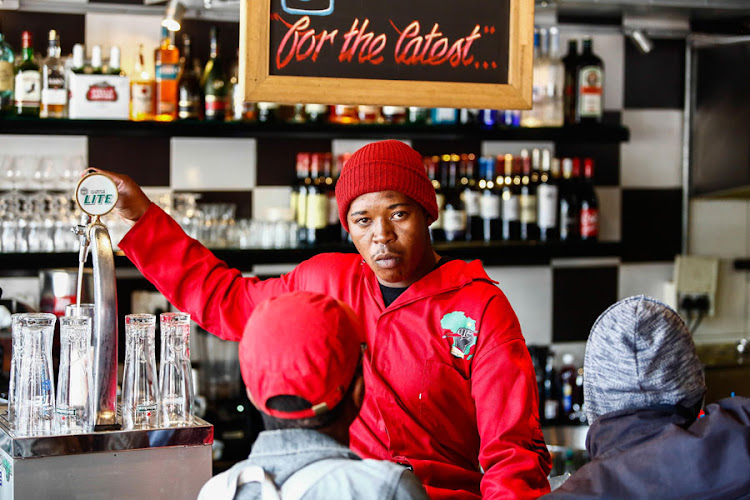 A member of the EFF at Smokehouse and Grill, where the party demanded an apology from the manager for racist behaviour of one of its former directors' Adam Catzavelos
